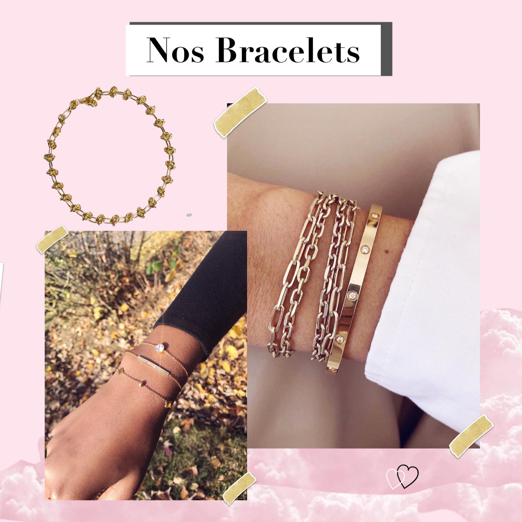 aperçu des bracelets Hazanellie portés