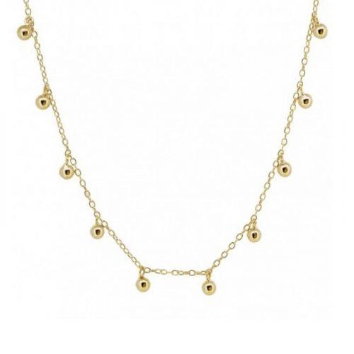 collier Athena breloques dorés