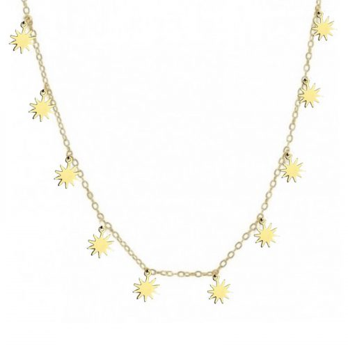 Collier Morning chainette breloque étoiles doré Hazanellie