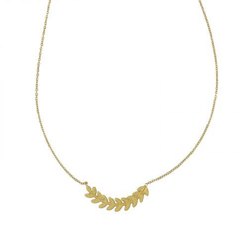 collier chainette feuille doré Hazanellie