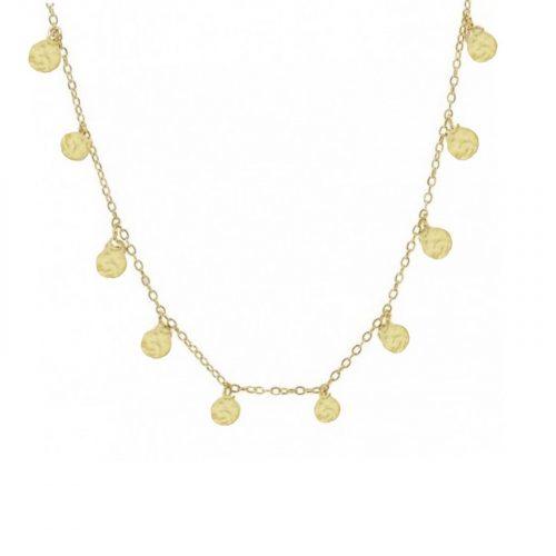collier breloques dorées Hazanellie