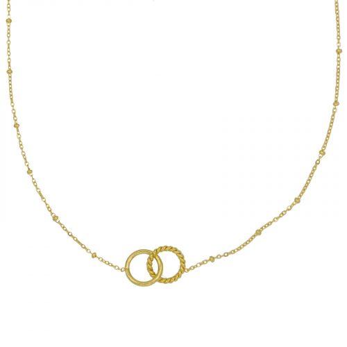 collier cercle entrelacé chainette doré Hazanellie