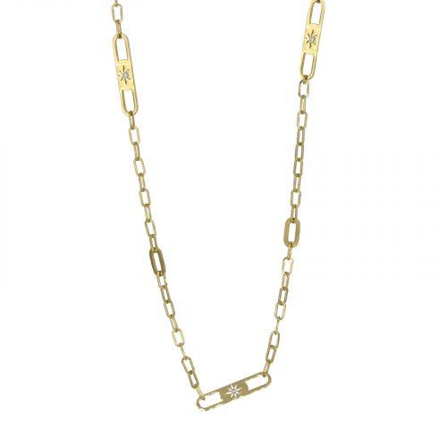 collier chaine soleil doré Hazanellie