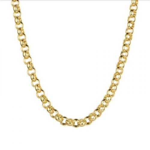 collier grosse chaine ronde doré Hazanellie