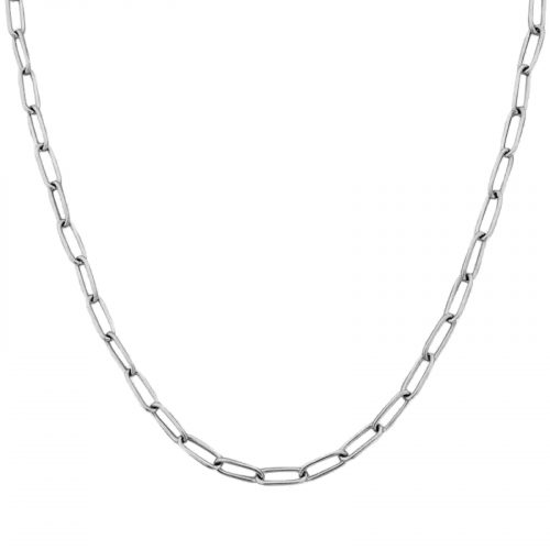 collier chaine simple argenté Hazanellie