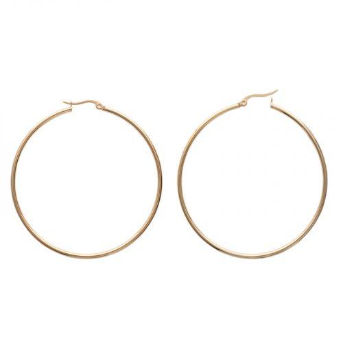 boucles d'oreilles Hazanellie créoles grande fine dorée
