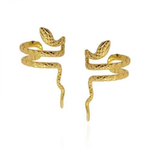 bagues d'oreille serpent doré