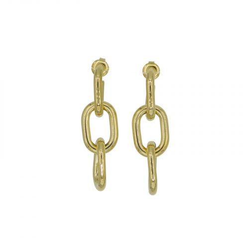 boucles d'oreilles chaine doré