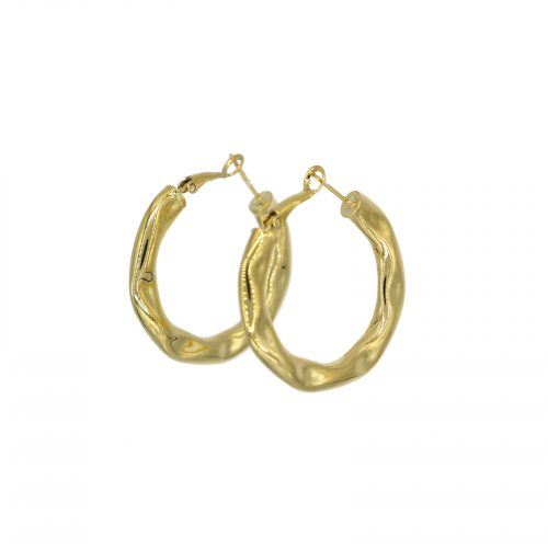 boucles d'oreilles mini creole froissé doré