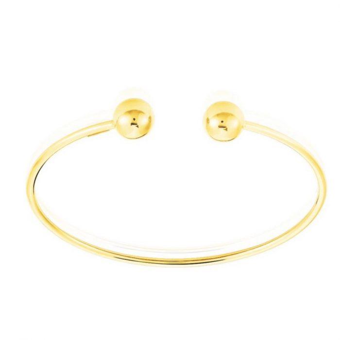 bracelet jonc cassé boules doré Hazanellie