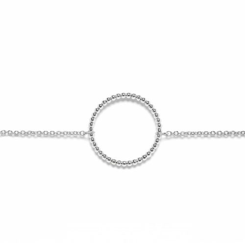 Bracelet cercle chainette argenté Hazanellie