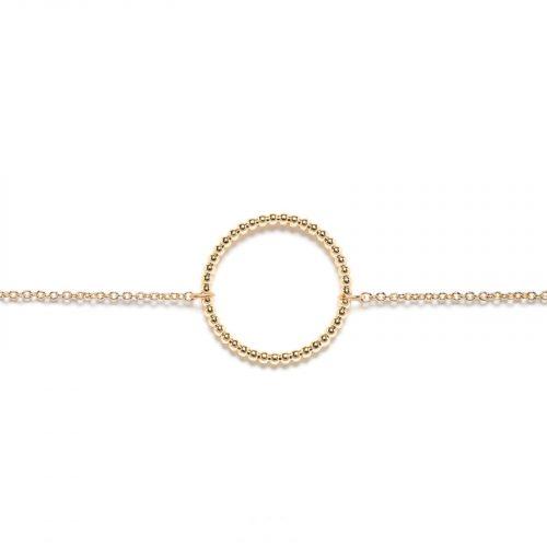 Bracelet fantaisie cercle chainette doré Hazanellie
