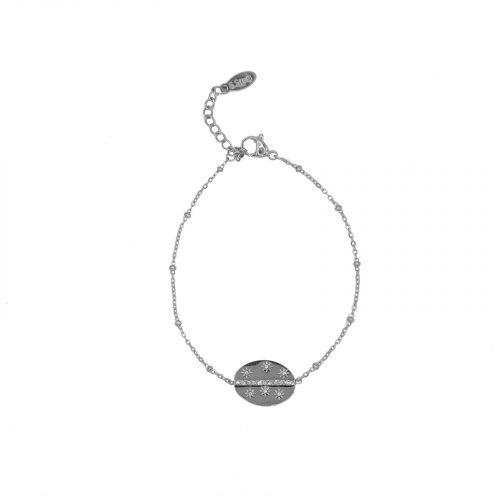 Bracelet chainette neema argenté Hazanellie