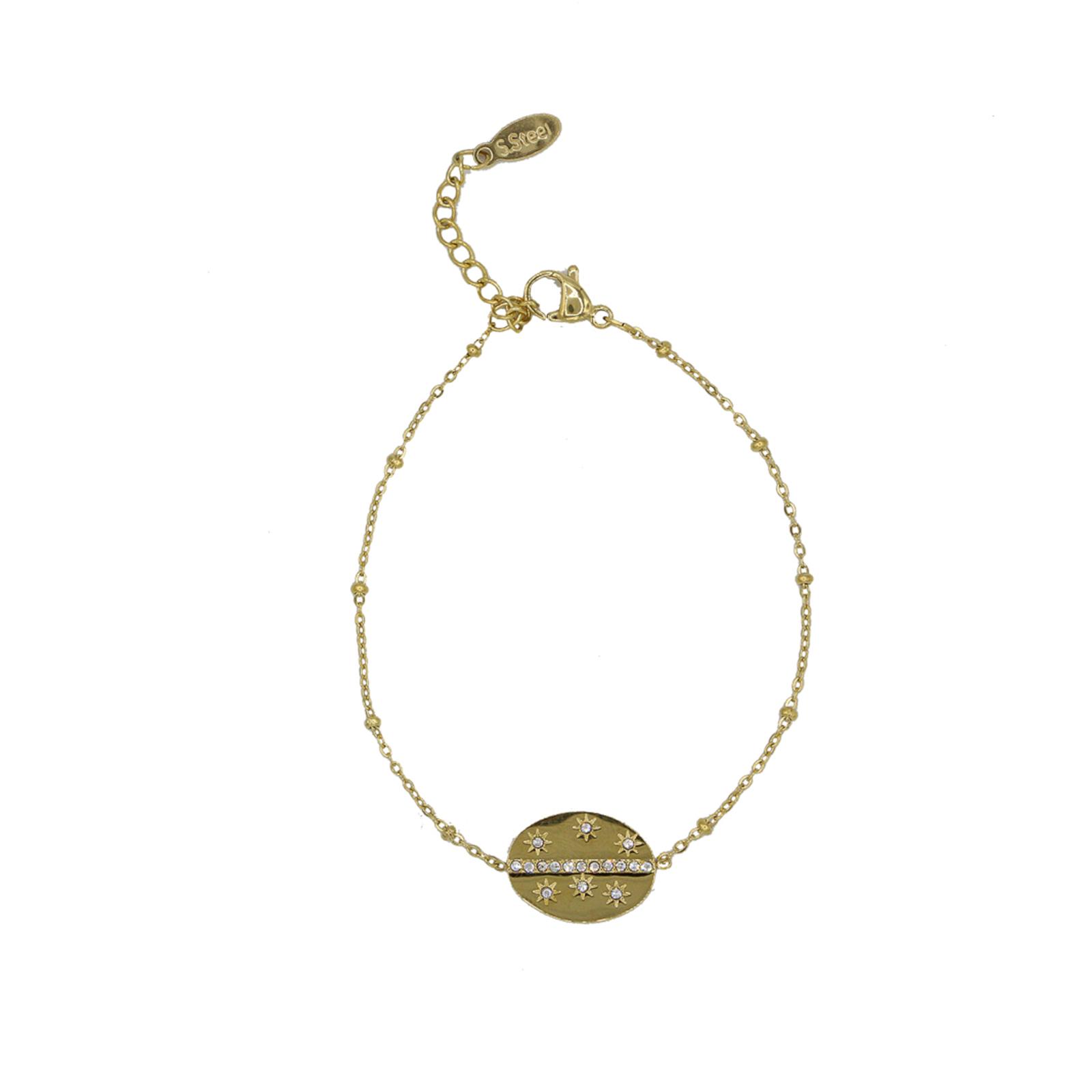 Bracelet chainette Hortense doré Hazanellie