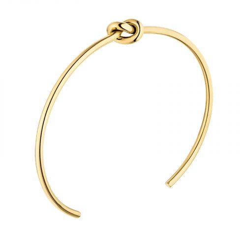 bracelet doré avec un noeud Hazanellie