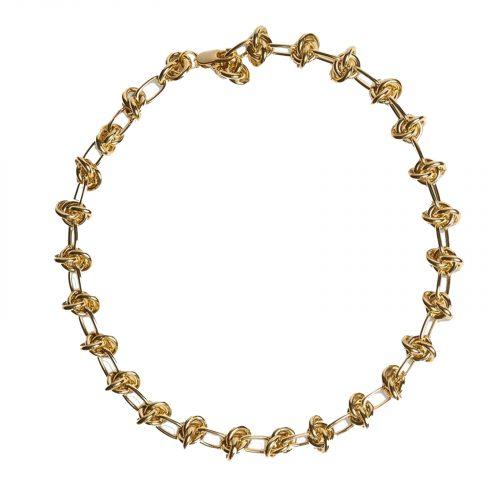 bracelet chainette noeud doré Hazanellie