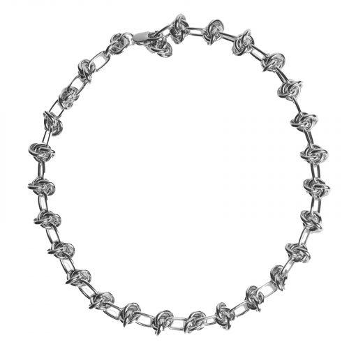 Bracelet chainette noeud argenté Hazanellie