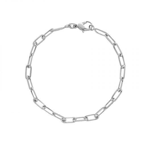 bracelet chaine moyenne argenté Hazanellie