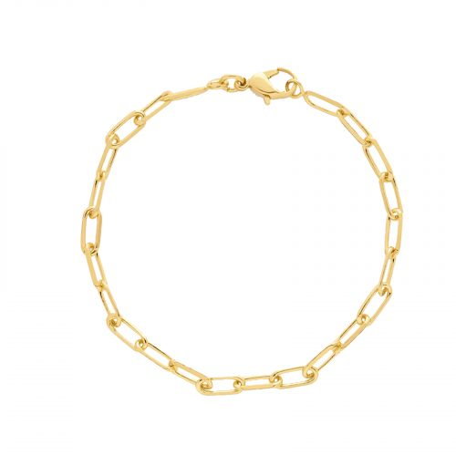 bracelet chaine moyenne doré Hazanellie