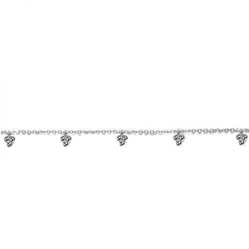 Bracelet chainette et breloques boules argenté Hazanellie
