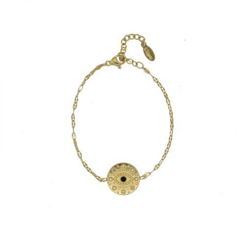 Bracelet chainette oeil doré Hazanellie