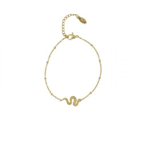 Bracelet chainette serpent doré Hazanellie