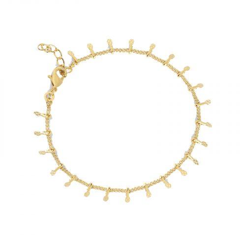 Bracelet avec breloques doré Hazanellie