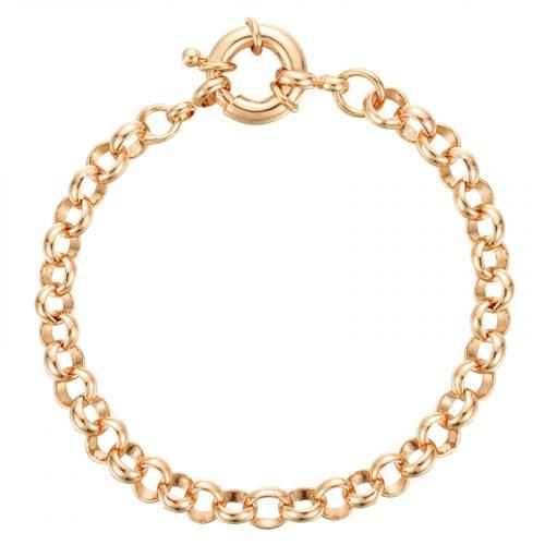 Bracelet grosse chaine ronde doré Hazanellie
