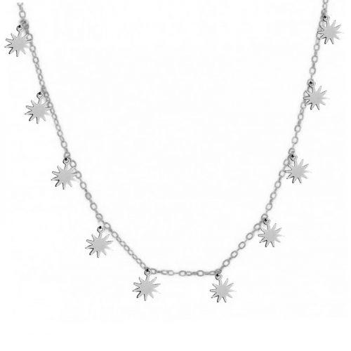 collier étoiles argenté Hazanellie