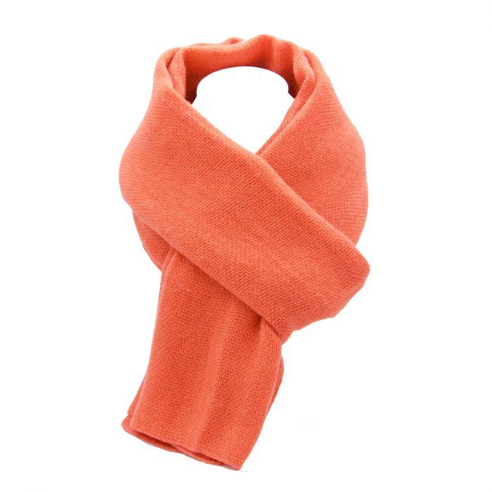 écharpe corail en laine