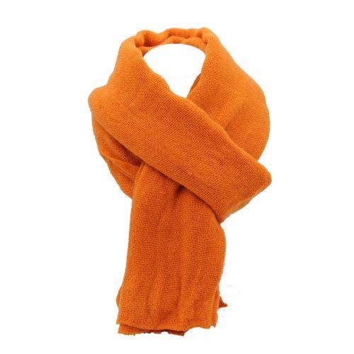 écharpe orange foncé en laine