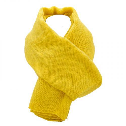 écharpe jaune en laine
