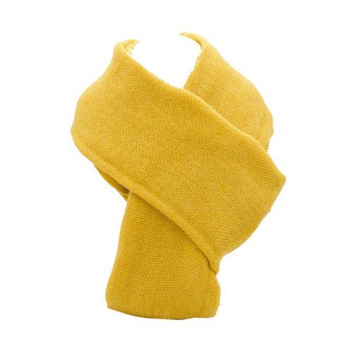 écharpe moutarde en laine