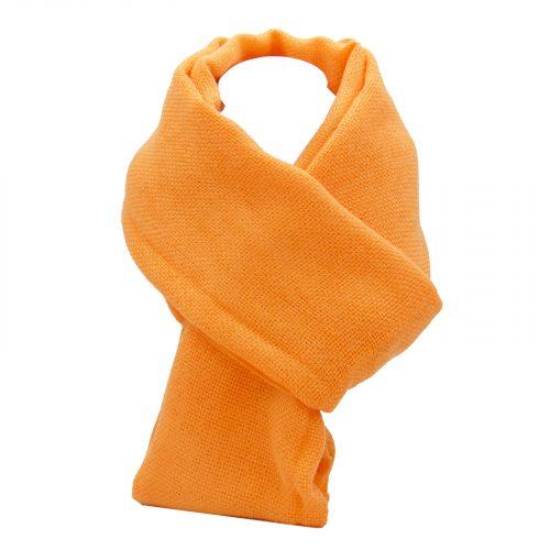 écharpe orange flashy en laine
