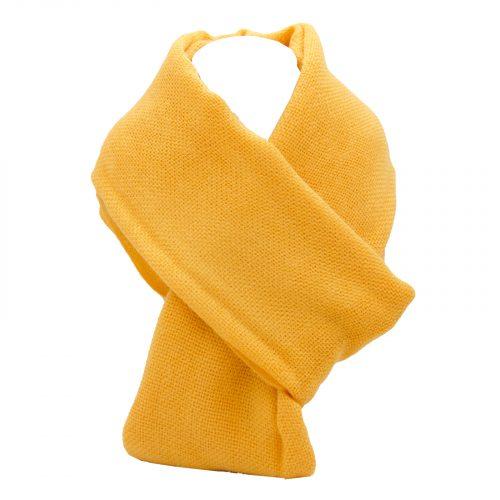 écharpe orange clair en laine