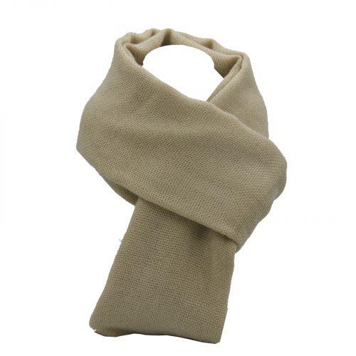 écharpe beige en laine