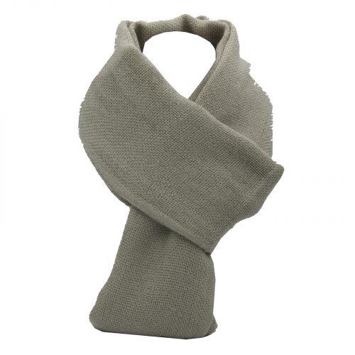 écharpe gris souris en laine