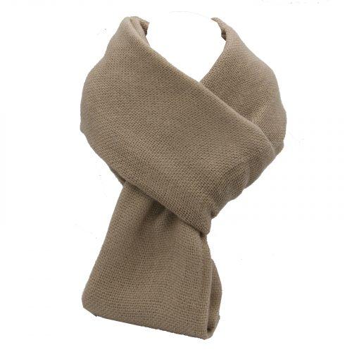 écharpe taupe en laine