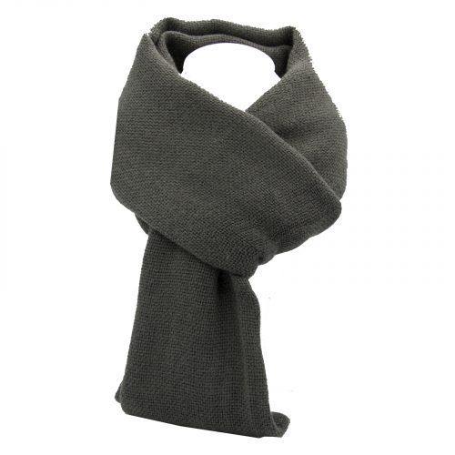 écharpe gris anthracite en laine