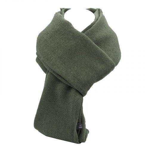 écharpe gris vert en laine