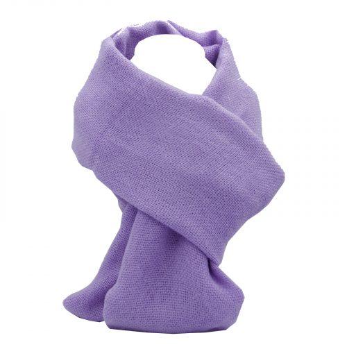 écharpe lilas en laine