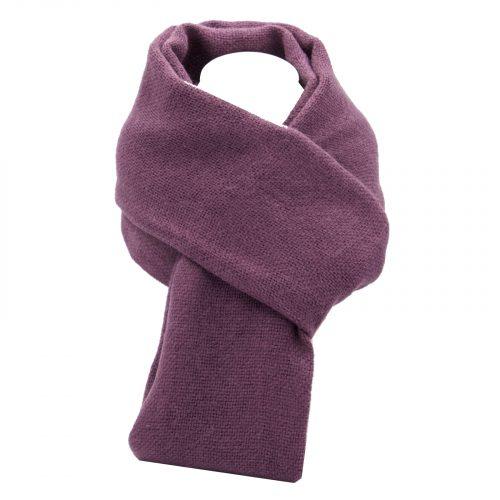 écharpe violet foncé en laine
