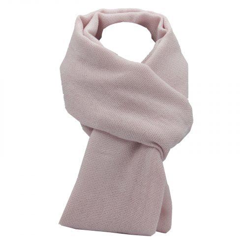 écharpe rose pale en laine