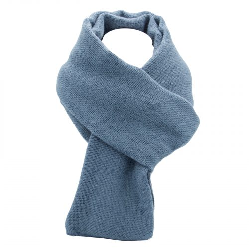écharpe bleu Jeans en laine