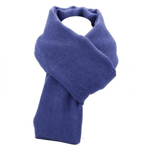 écharpe bleu violet en laine