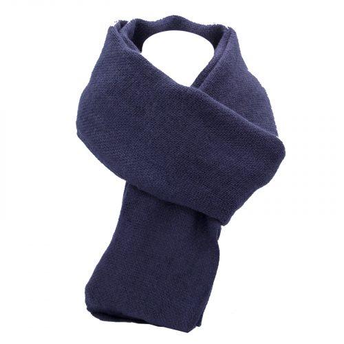 écharpe bleu foncé Marine en laine