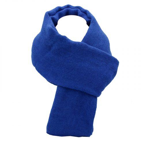 écharpe bleu cobalt en laine