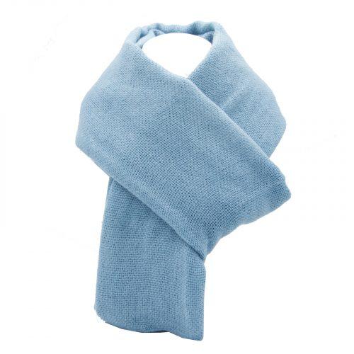 écharpe bleu ciel marina en laine