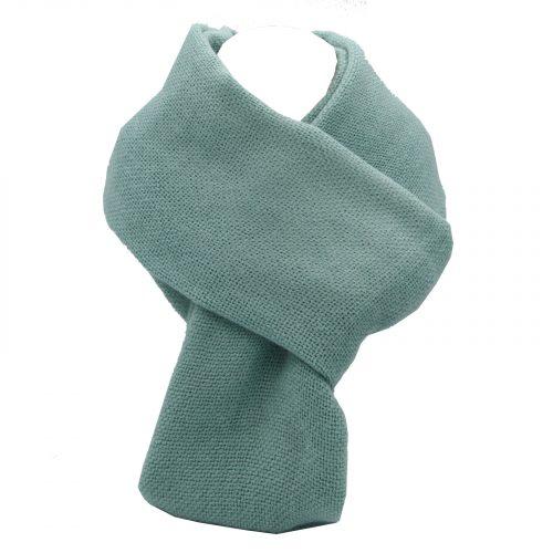 écharpe vert d'eau en laine