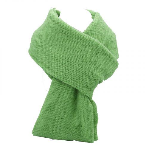 écharpe vert pomme en laine